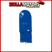 58359 PILOT 12V BLUE DYED GLASS, LAMPADA ZOCCOLO VETRO - (W5W) - 5W - W2,1X9,5D - 2 PZ - D/BLISTER
