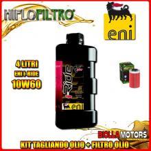 KIT TAGLIANDO 4LT OLIO ENI I-RIDE 10W60 TOP SYNTHETIC KTM 640 Duke 1st Oil Filter 640CC 1999-2006 + FILTRO OLIO HF155