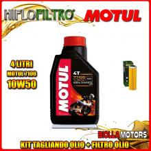 KIT TAGLIANDO 4LT OLIO MOTUL 7100 10W50 KTM 1050 Adventure 1050CC 2015-2016 + FILTRO OLIO HF650