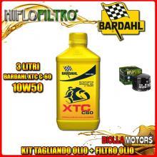 KIT TAGLIANDO 3LT OLIO BARDAHL XTC 10W50 MOTO GUZZI 1000 California II 1000CC 1982-1986 + FILTRO OLIO HF552