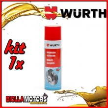 KIT 1x 500ML PULITORE PER FRENI SPRAY WURTH - 1x 0890117