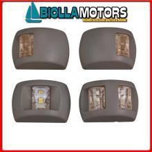2111032 FANALE BLACK GREEN LED< Fanali di Navigazione (CE) Compact LED