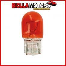 58100 LAMPA 12V LAMPADA CON ZOCCOLO VETRO - WY21W - 21W - W3X16D - 2 PZ - D/BLISTER - ARANCIO