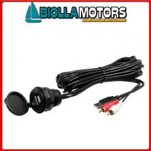 5640105 PRESA USB/AUX MUSB35 BOSS MARINE Radio-Lettore BOSS MGR350B RDS / USB / Bluetooth