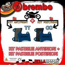 BRPADS-39326 KIT PASTIGLIE FRENO BREMBO HONDA XL V TRANSALP 1997-1999 600CC [TT+CC] ANT + POST