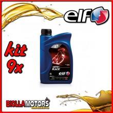 KIT 9X LITRO OLIO ELF MOTO 2 RACE SINTETICO - 9x 201733