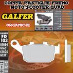 FD103G1054 PASTIGLIE FRENO GALFER ORGANICHE POSTERIORI BUELL XB 12 SS LIGHTNING LONG 06-