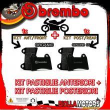 BRPADS-60328 KIT PASTIGLIE FRENO BREMBO FANTIC MOTOR OASIS 1989- 75CC [ORGANIC+GENUINE] ANT + POST
