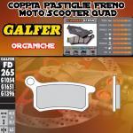 FD265G1054 PASTIGLIE FRENO GALFER ORGANICHE POSTERIORI KTM 105 SX (USA) 04-06