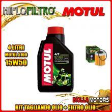 KIT TAGLIANDO 4LT OLIO MOTUL 5100 15W50 KTM 660 Rally E Factory Replica 2nd Oil 660CC 2006-2007 + FILTRO OLIO HF157