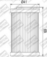 100609215 COF055 FILTRO OLIO BETA 250 RR Enduro 4Tprimo filtro 05-09 (X320)