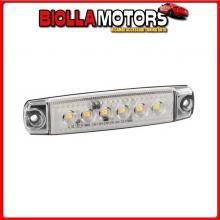 97007 LAMPA LUCE INGOMBRO A 6 LED, MONTAGGIO IN SUPERFICIE,12/24V - BIANCO