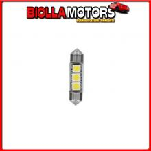 98223 LAMPA 24/28V HYPER-LED 9 - 3 SMD X 3 CHIPS - (C5W) - 10X36 MM - SV8,5-8 - 2 PZ - D/BLISTER - BIANCO - DOPPIA POLARIT?
