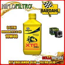 KIT TAGLIANDO 3LT OLIO BARDAHL XTC 10W40 MOTO GUZZI 1000 California II 1000CC 1982-1986 + FILTRO OLIO HF552