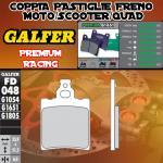 FD048G1651 PASTIGLIE FRENO GALFER PREMIUM POSTERIORI GARELLI 125 TIGER XLE 87-