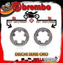 BRDISC-2061 KIT DISCHI FRENO BREMBO PIAGGIO BEVERLY CRUISER 2007-2012 500CC [ANTERIORE+POSTERIORE] [FISSO/FISSO]