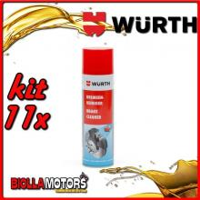 KIT 11x 500ML PULITORE PER FRENI SPRAY WURTH - 11x 0890117