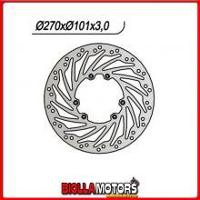 659858 DISCO FRENO ANTERIORE NG HM CRE F 4T (Honda) 250CC 2004/2008 858 270/117/101/3/6/6,5 FISSO TURBINA