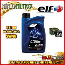 KIT TAGLIANDO 3LT OLIO ELF MAXI CITY 5W40 GILERA 800 GP / GP Centenario 800CC 2008-2014 + FILTRO OLIO HF565