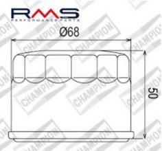 100609085 COF047 FILTRO OLIO KYMCO 500 Xciting RI 10-12 (COF885 - F307)