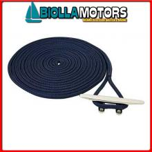 3101433 DOCK LINE NAVY 14MM X 10M< Treccia Mooring Blue Navy con Gassa