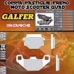 FD075G1054 PASTIGLIE FRENO GALFER ORGANICHE ANTERIORI BATABUS GRAN PRIX L 50 85-