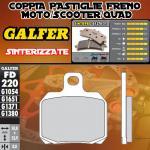FD220G1371 PASTIGLIE FRENO GALFER SINTERIZZATE POSTERIORI MV AGUSTA F3 675 SERIE ORO 12-