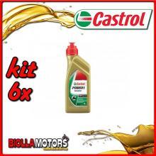KIT 6X LITRO OLIO CASTROL POWER 1 SCOOTER 4T 5W40 - 6x CA154F88