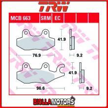 MCB663SRM PASTIGLIE FRENO POSTERIORE TRW REX 125 Imola 50 Race 2011- [SINTERIZZATA- SRM]