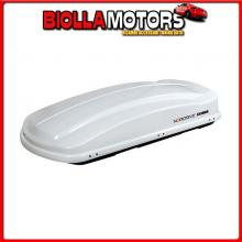N60013 NORDRIVE BOX 430, BOX TETTO IN ABS, 430 LITRI - BIANCO LUCIDO