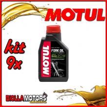 KIT 9X LITRO OLIO MOTUL FORK OIL EXPERT HEAVY 20W FORCELLA - 9x 105928
