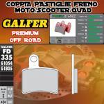 FD335G1805 PASTIGLIE FRENO GALFER PREMIUM POSTERIORI BETA EVO 80 JUNIOR 09-