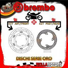 BRDISC-3859 KIT DISCHI FRENO BREMBO KAWASAKI KX F 2014- 250CC [ANTERIORE+POSTERIORE] [FLOTTANTE/FISSO]