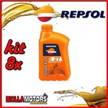 KIT 8X LITRO OLIO REPSOL SINTETICO MOTO 2T 1LT - 8x RP150W51IT