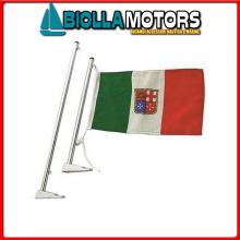 0810003 ASTA 350 OTTONE CR Asta Portabandiera Compact Chrome