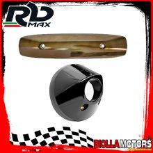 KIT PROTEZIONE MARMITTA YAMAHA T-MAX 500 2008-2011 ANTRACITE BRONZATO (INTERASSE 255mm)