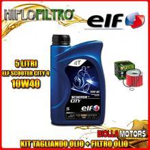 KIT TAGLIANDO 5LT OLIO ELF CITY 10W40 YAMAHA FJ1100 1100CC 1984-1986 + FILTRO OLIO HF401