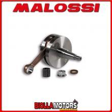 5316528 ALBERO MOTORE MALOSSI VESPA ET3 PRIMAVERA 125 2T BIELLA 97 - SP. D. 15 CORSA 51 MM - CONO 20 -