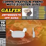 FD230G1396 PASTIGLIE FRENO GALFER SINTERIZZATE POSTERIORI KTM 50 LC PRO SENIOR 04-