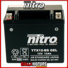 YTX12-BS-N BATTERIA NITRO YTX12-BS SIGILLATA CON ACIDO YTX12BS MOTO SCOOTER QUAD CROSS