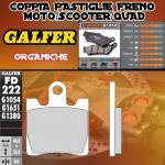 FD222G1054 PASTIGLIE FRENO GALFER ORGANICHE ANTERIORI DAELIM S2 125 FREEWING f.i. 08-