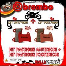 BRPADS-22970 KIT PASTIGLIE FRENO BREMBO KTM SUPERMOTO 2005- 950CC [SA+SD] ANT + POST