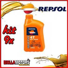 KIT 9X LITRO OLIO REPSOL MOTO OFF ROAD 4T 10W40 1LT - 9x RP162N51IT