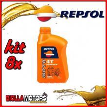 KIT 8X LITRO OLIO REPSOL MOTO SCOOTER 4T 5W40 1LT - 8x RP164L51IT