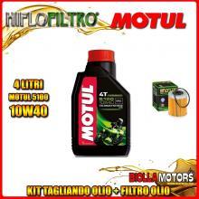 KIT TAGLIANDO 4LT OLIO MOTUL 5100 10W40 KTM 660 Rally E Factory Replica 2nd Oil 660CC 2006-2007 + FILTRO OLIO HF157