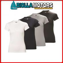3041243 HH W TECH TSHIRT 980 EBONY L T-Shirt HH Tech T Donna