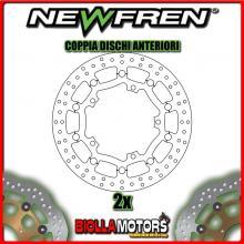 2-DF5277AFV COPPIA DISCHI FRENO ANTERIORE NEWFREN TRIUMPH SPEED TRIPLE 1050cc VIN 333179 to VIN 461331 2008-2010 FLOTTANTE VINTA