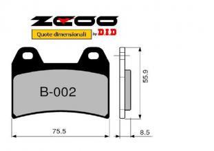 45B00201 PASTIGLIE FRENO ZCOO (B002 EX C) APRILIA RS 250 - PISTA 1998-2004 (ANTERIORE)