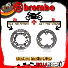 BRDISC-4621 KIT DISCHI FRENO BREMBO TRIUMPH SPEED TRIPLE 2007-2008 1050CC [ANTERIORE+POSTERIORE] [FLOTTANTE/FISSO]