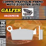 FD093G1054 PASTIGLIE FRENO GALFER ORGANICHE POSTERIORI GAS GAS ENDUCAMP 400 4T 05-